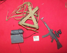 Mini 1/6 Scale German WW2 German MP44 SMG w/ Scope IR Night Vision Man from UNCLE RIFLE