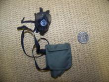 Miniature 1/6th Police SAS Army Gas Mask  & Bag #9
