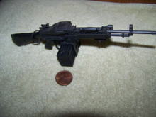 Miniature 1/6th Scale Stoner 63A Machine Gun & Ammo Box