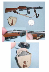 1/6th Scale Miniature Russian PPS42 & Pouch