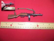 Miniature 1/6th Scale WWII Russian PPSH 41 Machine Gun w/Drum Clip