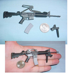 Miniature 1/6 M4 Assault Rifle w/CARR Stock #2