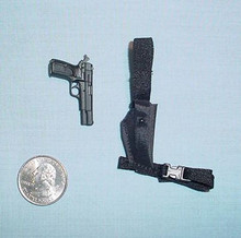 Miniature 1/6 Scale Hi-power 9mm w/Holster