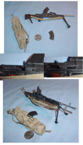 Miniature 1/6 Scale WWI British Bren Gun Set