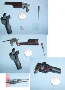Miniature 1/6 German C96 Mauser pistol