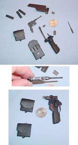 Miniature 1/6 German 713R Mauser pistol & pouches
