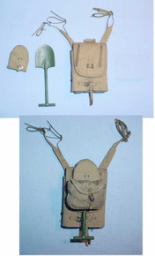 Miniature 1/6 WW2 U.S. M1928 Haversack w/attached Suspenders