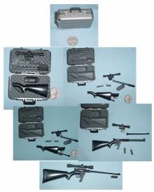 Miniature 1/6th Scale Sniper Rifle that fits in a Case RARE