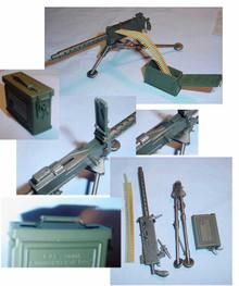 Miniature 1/6 WW2 U.S. Browning M1919A4 w/Ammo Can RARE