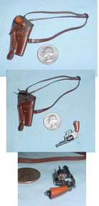 Miniature 1/6th Scale Shoulder Holster & Revolver