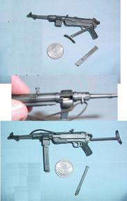 Miniature 1/6 WW2 German dual clip MP40