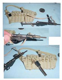 Miniature 1/6th Scale WWII British Sten Gun & Chest Clip Rig