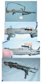 Miniature 1/6th Scale FN-MAG Machine Gun w/Bi-pod