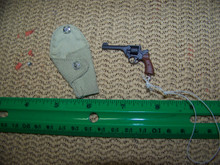 Miniature 1/6 WW2 British Enfield Revolver & Holster