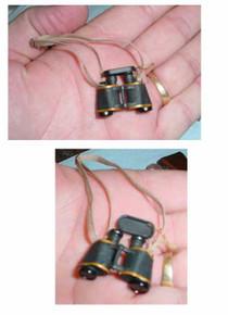 Miniature 1/6th Scale WWII British Binoculars w/lens Cover
