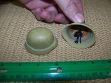Miniature 1/6th Scale WWII German Tan Africka Korp Steel Helmet