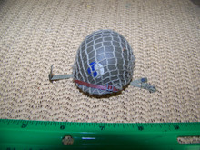 Miniature 1/6th Scale WWII US Netted 29th Helmet Metal #1