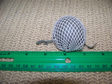 Miniature 1/6th Scale WWII US Netted Paratrooper Helmet Metal
