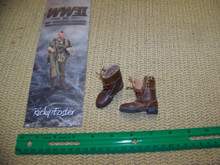Miniature 1/6th Scale WWII US Real Leather Boots