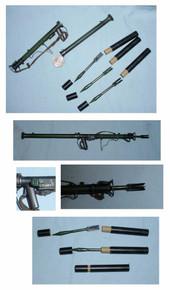 Miniature 1/6th Scale US WWII Bazooka & 3 x Shells w/case