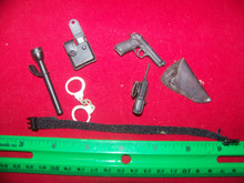 Miniature 1/6th Scale Police Belt, Pistol, Holster & More #2