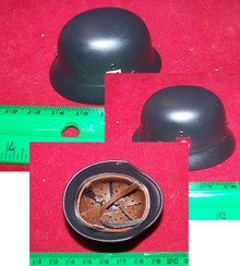 Miniature 1/6th Scale WWII German Metal SS Helmet