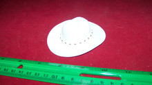 1:6th Scale White Cowboy Hat w/White Hat Band