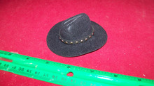Copy of 1:6th Scale Black Cowboy Hat w/Black Hat Band