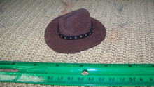 1:6th Scale Brown Cowboy Hat w/Black Hat Band