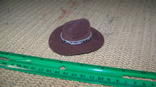 1:6th Scale Brown Cowboy Hat w/Snake print Hat Band