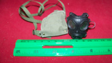 Miniature 1/6th Police SAS Army Gas Mask  & Bag #10