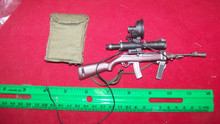 Miniature 1/6th Scale Korean M2 Carbine w/M3 Sniper Scope 31 (man from Uncle)