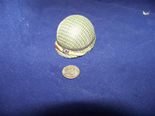 Miniature 1/6th Scale US WWII M1 Netted Helmet w/liner