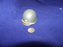 Miniature 1/6th Scale WWII US Army Lt Colonel 1 Bar Helmet w/liner