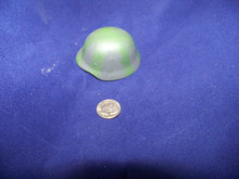 Miniature 1/6th Scale WWII Metal German Helmet w/Camo Strip