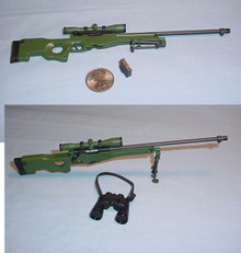 Miniature 1/6 Scale L96A1 Sniper Rifle & Binoculars