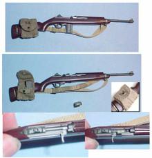 Miniature 1/6 WW2 U.S. Army M-1 Carbine & Ammo Pouch 31