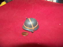 Miniature 1/6th Scale WWII German Helmet w/Strap #2