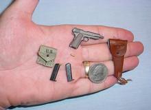 Miniature Colt 45, Clip, Holster & Canvas Clip Pouch