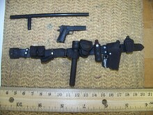 Miniature 1/6th Scale Police Belt, Pistol, Holster & More #6
