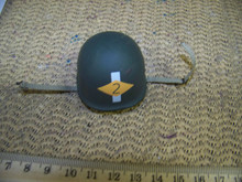 Miniature 1/6th Scale US WWII  2nd Infantry Division Helmet w/liner