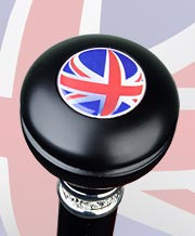 British Knob Handle w/Pewter Collar RC-3612B