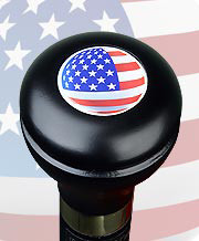 U.S.Flag Flask Walking Stick RC-3600c