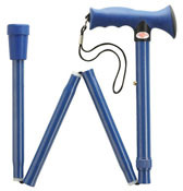 SOFT TOUCH Pacific Blue Adjustable Folding Ergonomic Cane N-3040BL