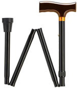 Extra Length Adjustable Folding Black Walking Cane HS-9952308