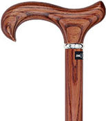Exquisite Espresso Ash Derby Walking Cane RC-80851