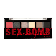 NYX The Sex Bomb Shadow Palette Picture Image Swatch