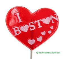 I Love Boston Lollipop