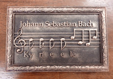 Johann Sebastian Bach Custom Designed Commemorative Bar