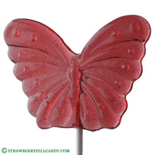 Butterfly Natural Clear Lollipop